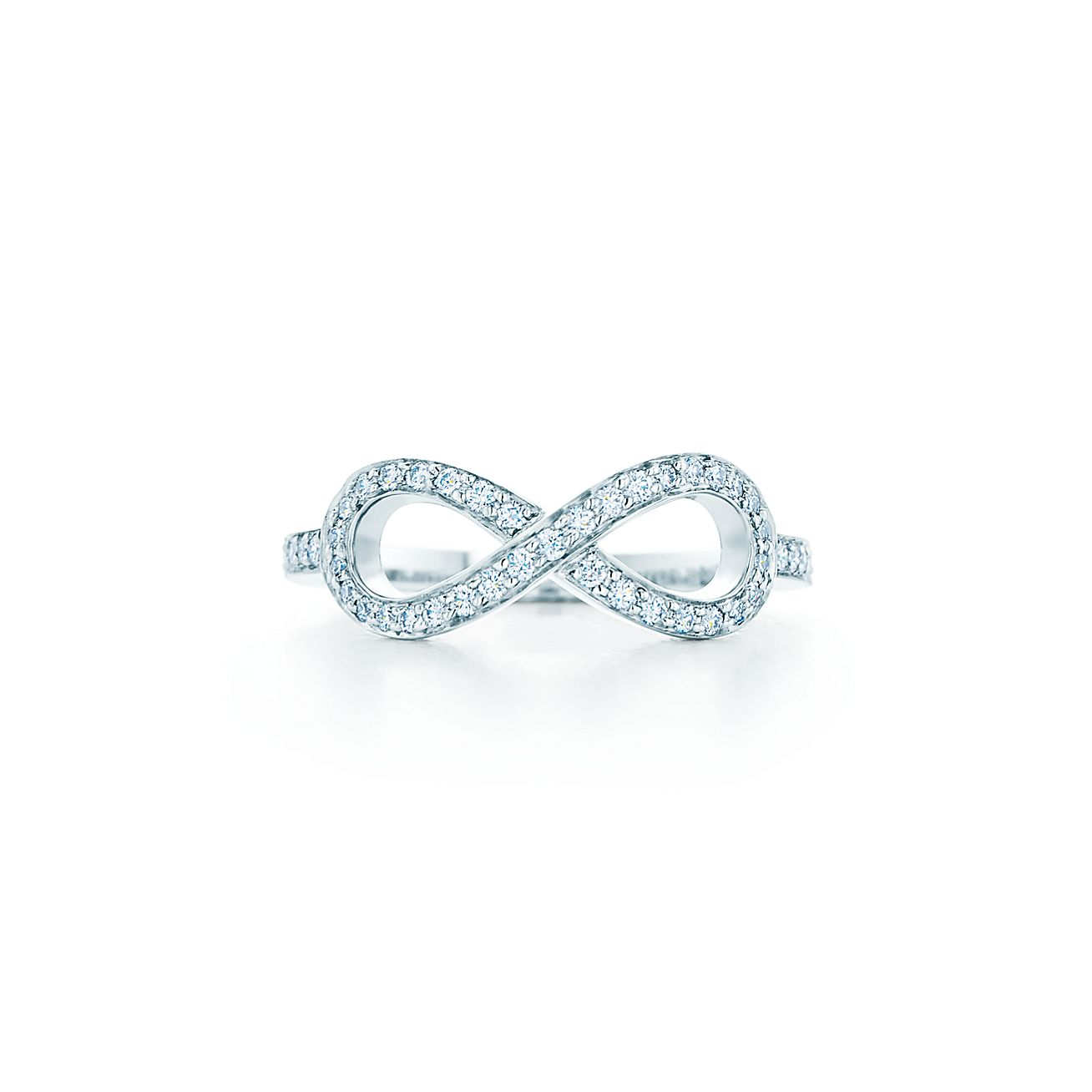 tiffany infinity ring in platinum with diamonds tiffany