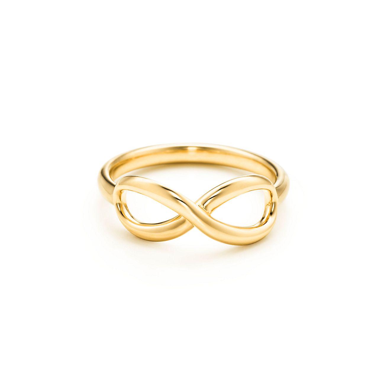 золотое кольцо тиффани