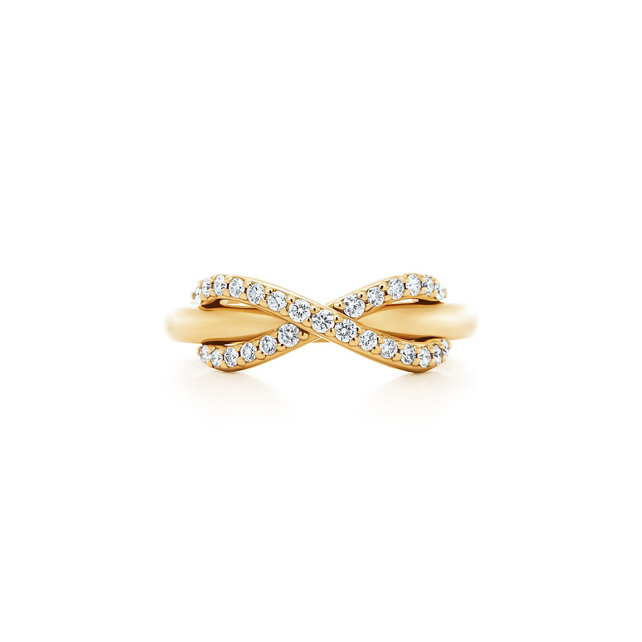 tiffany infinity ring in 18k gold with diamonds tiffany