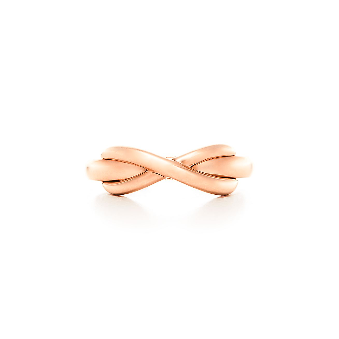 Tiffany Infinity ring in 18k rose gold. | Tiffany & Co.