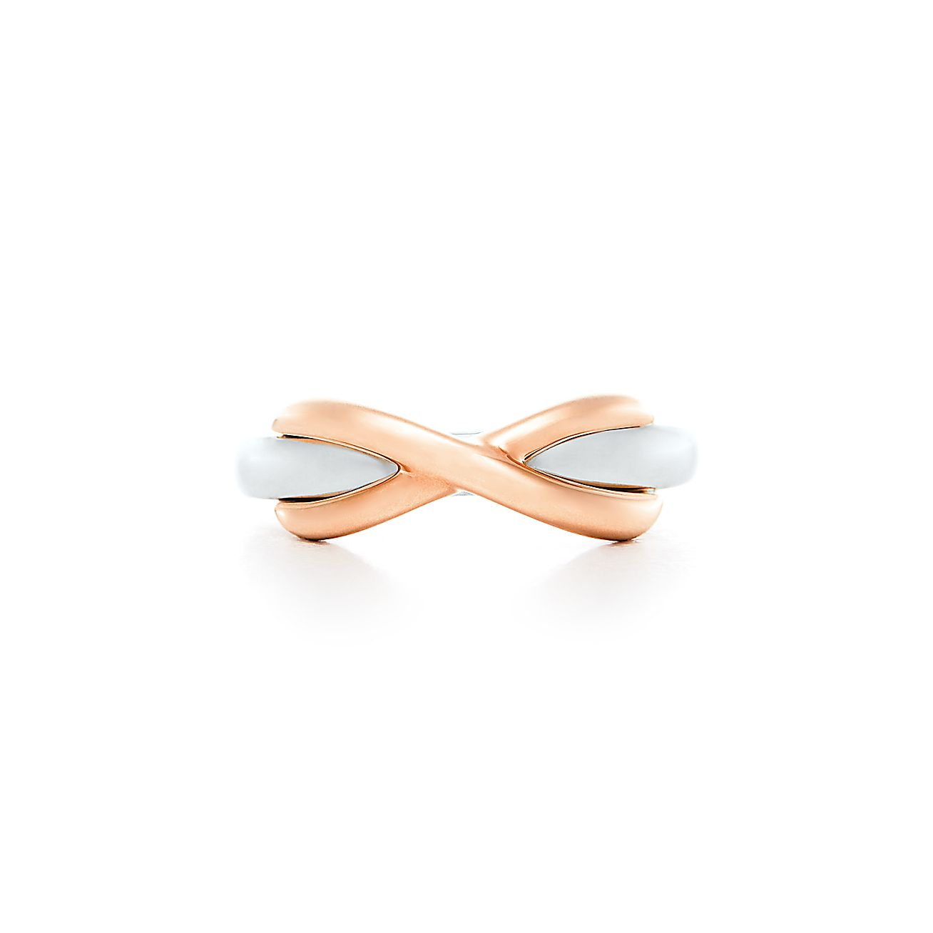 Tiffany Infinity Ring In Sterling Silver And 18k Rose Gold