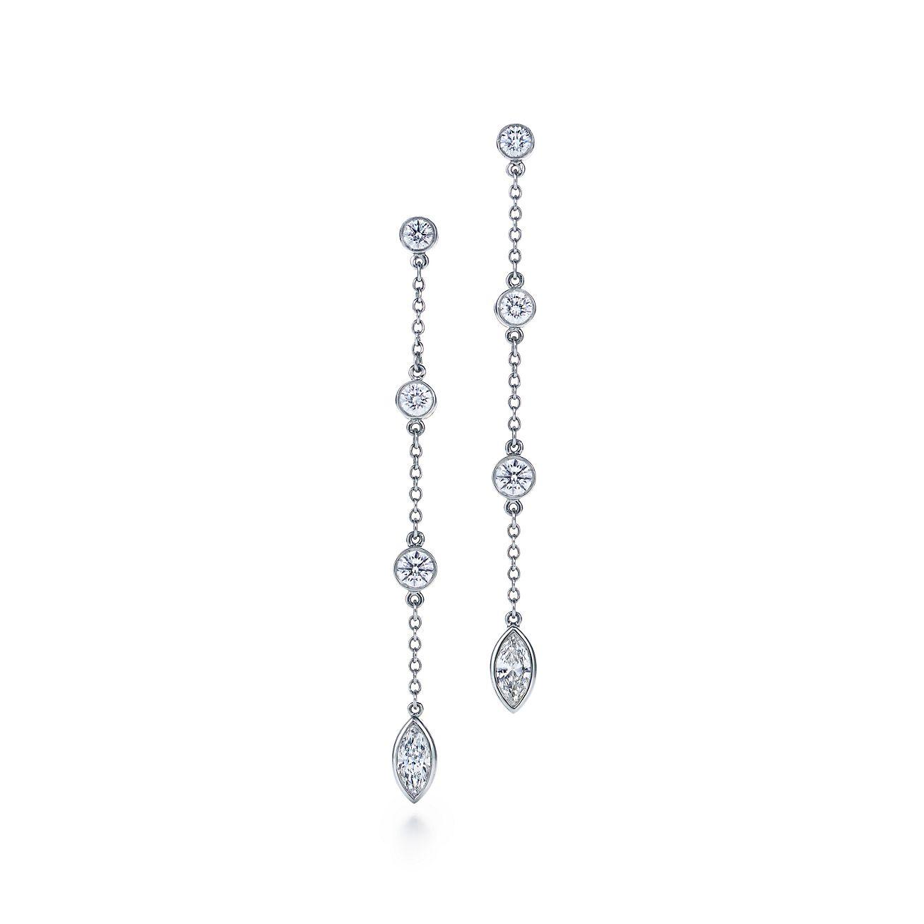 b6cacbded ... tiffany jazz™ drop earrings with diamonds in platinum. tiffany co. ...