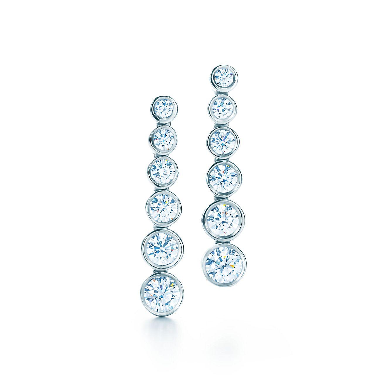 7abf334dd ... tiffany jazz™ graduated drop earrings with diamonds in platinum. tiffany  co. ...