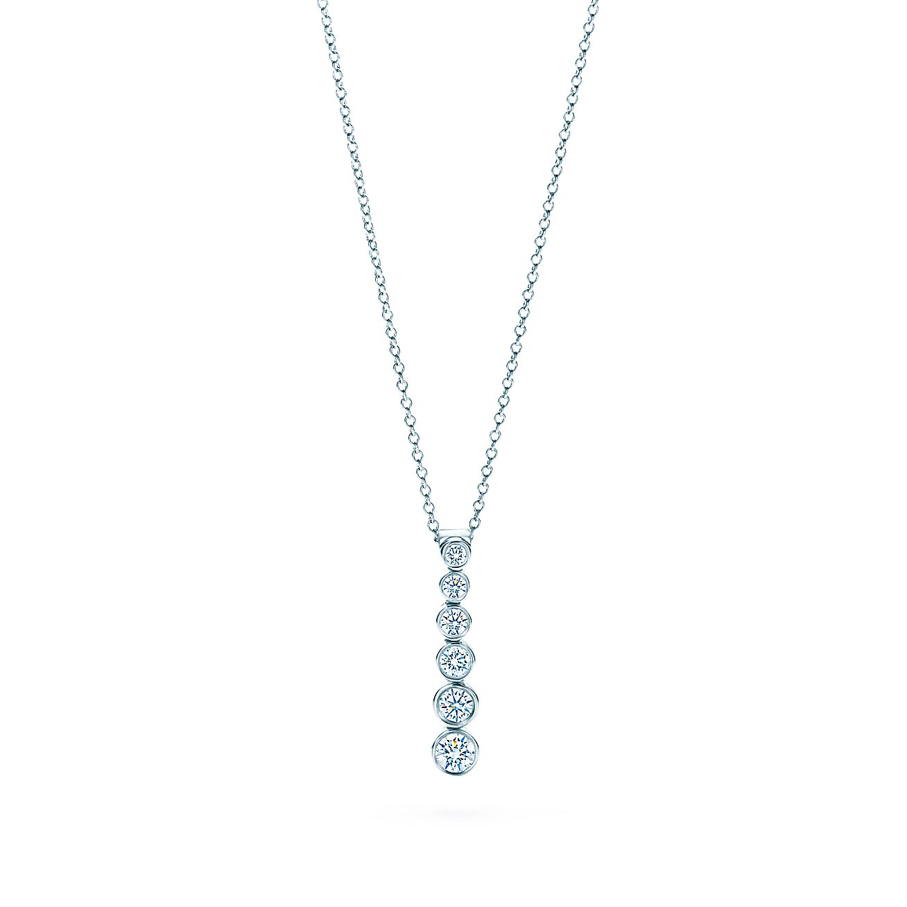 Tiffany Jazz Graduated Drop Pendant With Diamonds In