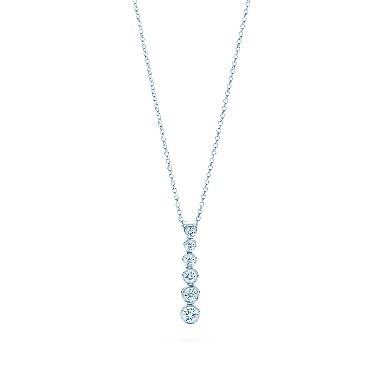 Tiffany jazz graduated drop pendant with diamonds in platinum tiffany jazzgraduated drop pendant mozeypictures Images