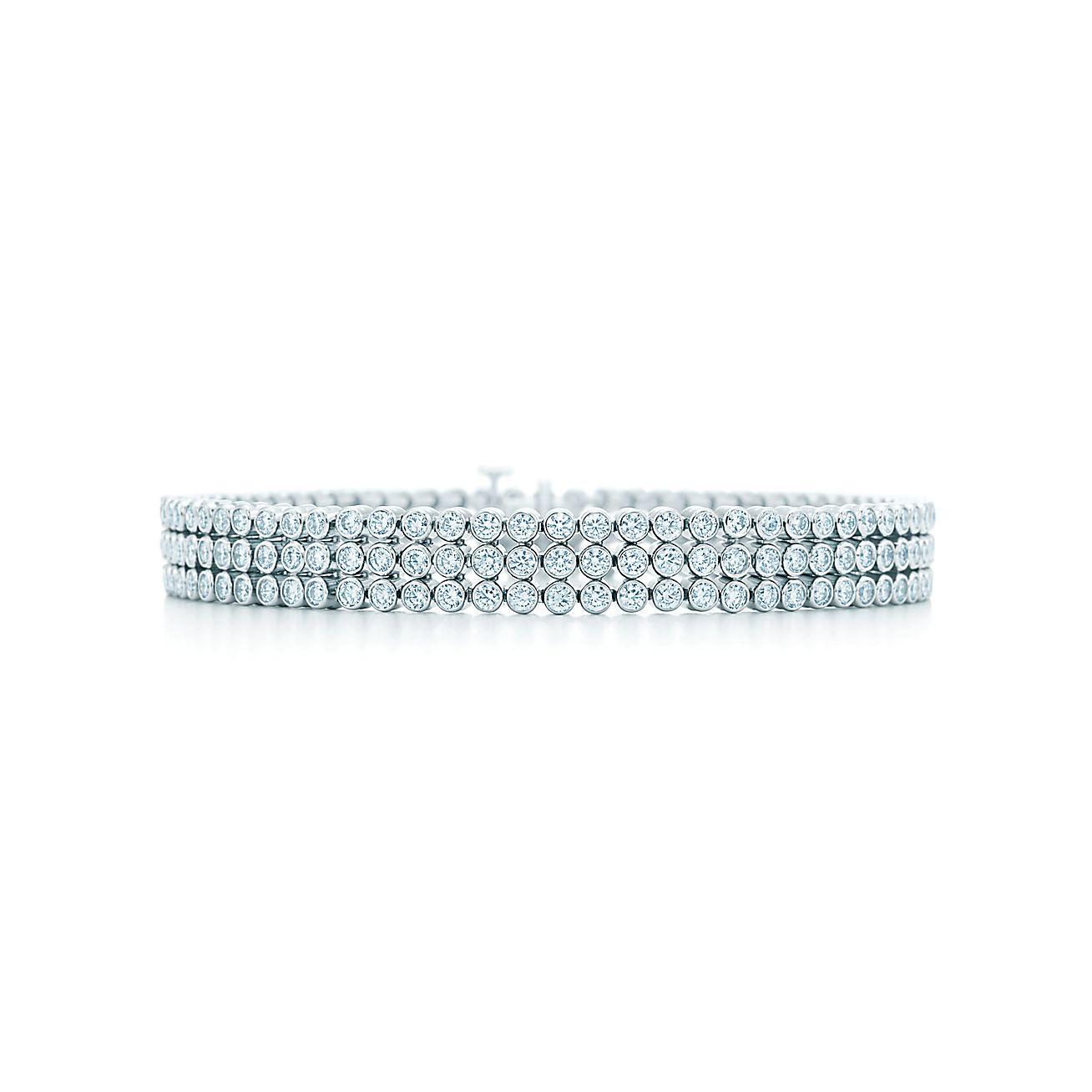 Tiffany Jazz™:Three-row<br>Diamond Bracelet