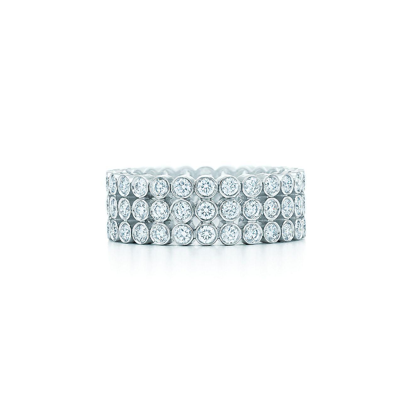 Tiffany Jazz™:Three-row Diamond Ring