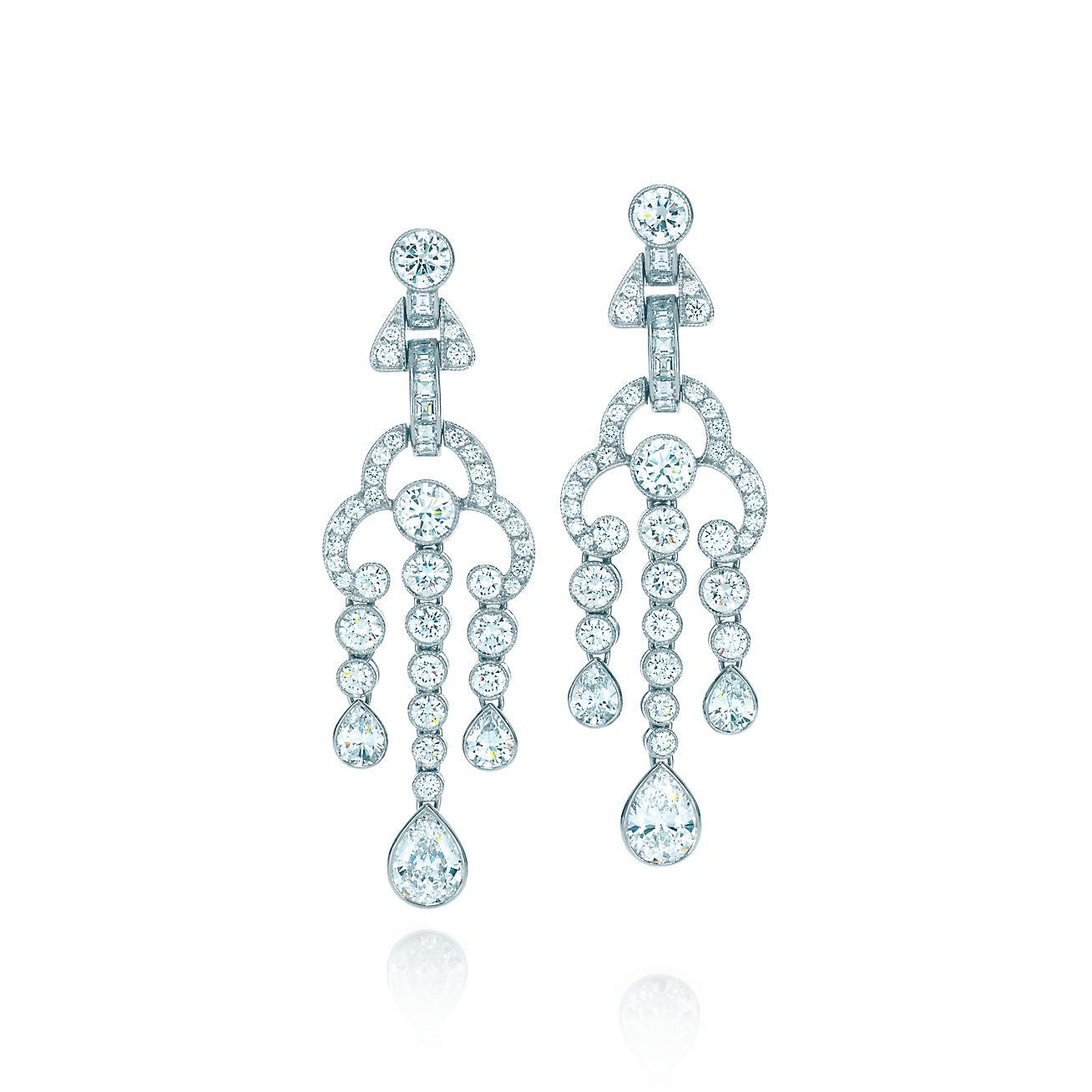 940d97687 ... tiffany jazz™ triple drop earrings in platinum with diamonds. ...