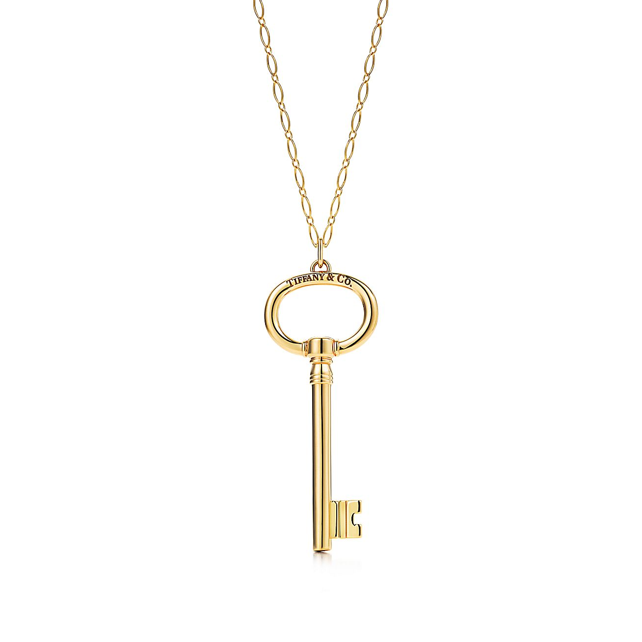 Tiffany Keys<br>Oval key pendant