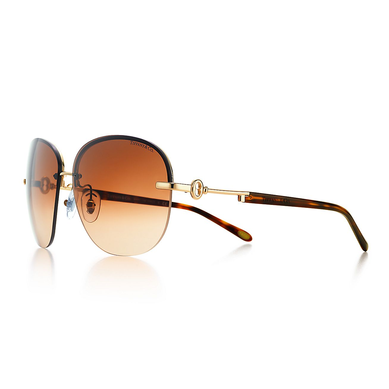 fc375abd9e9 Return To Tiffany Aviator Sunglasses Gold