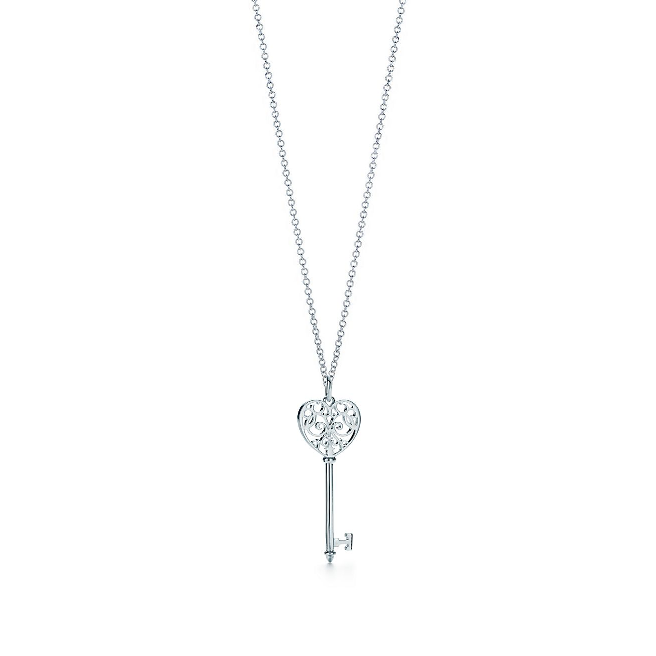 Medium tiffany enchant heart key pendant tiffany co mozeypictures Choice Image