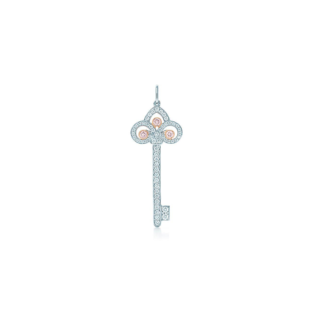 Tiffany Keys:Fleur de Lis Key Pendant