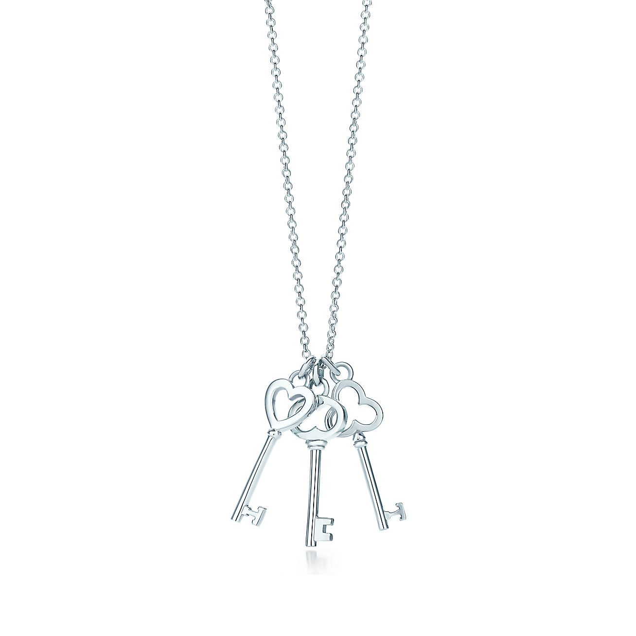 Tiffany Keys mini three-key pendant in sterling silver. | Tiffany ...