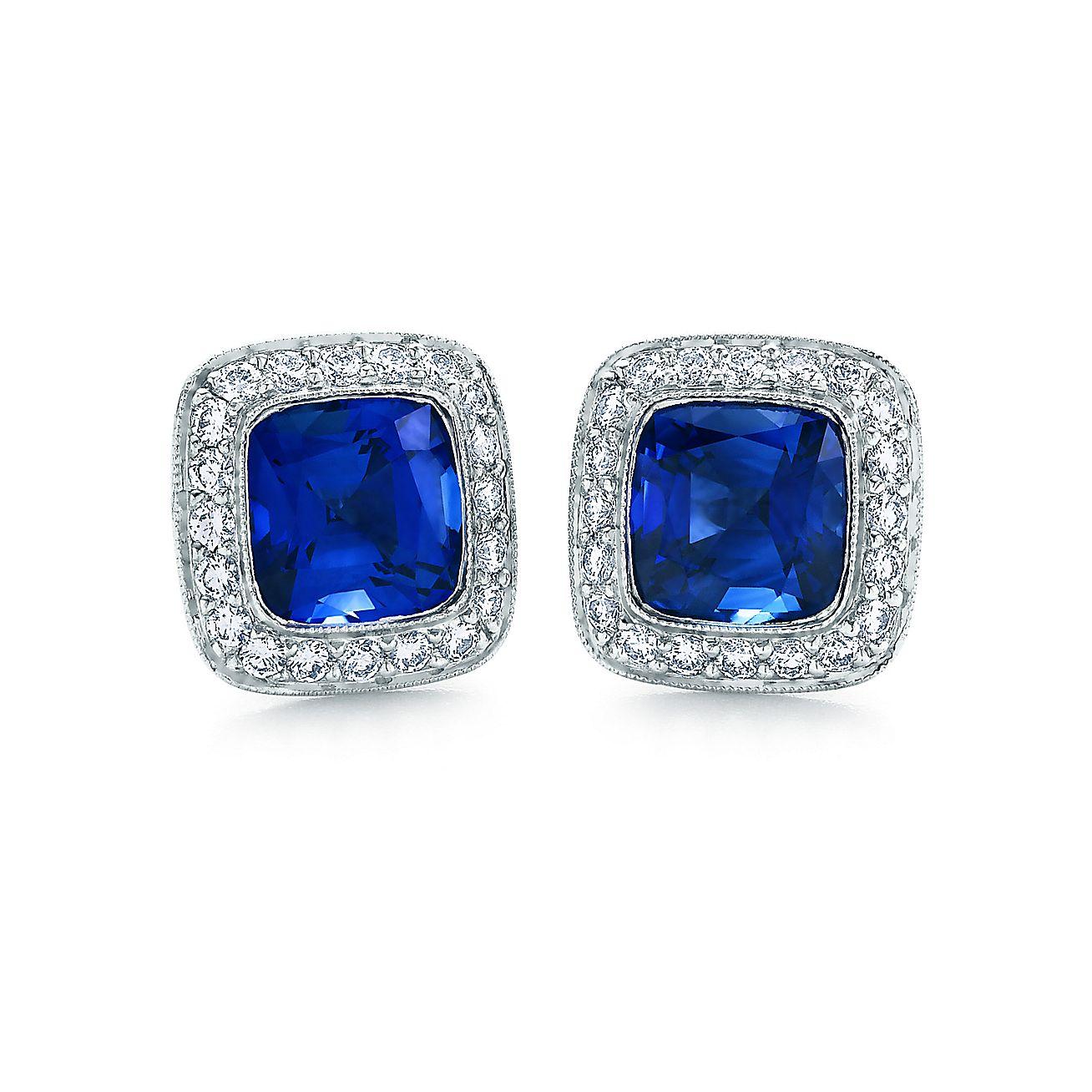 Tiffany Legacy®<br>sapphire earrings