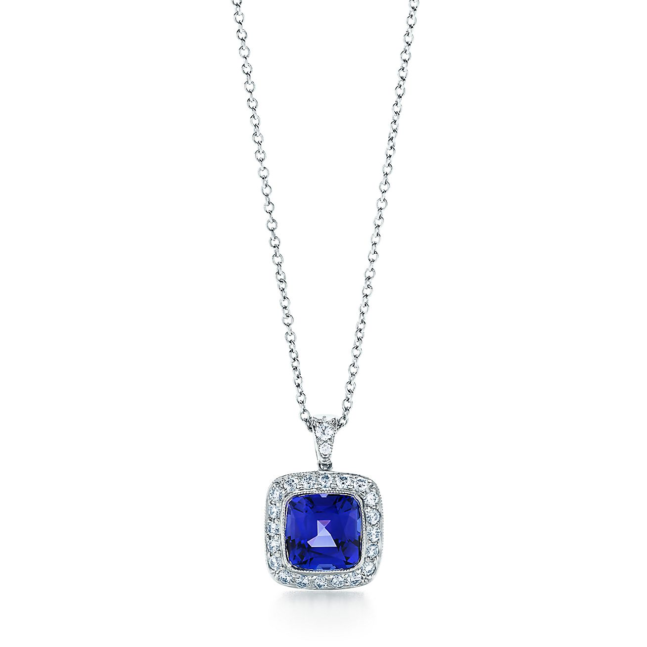 Tiffany Legacy® tanzanite pendant in platinum with