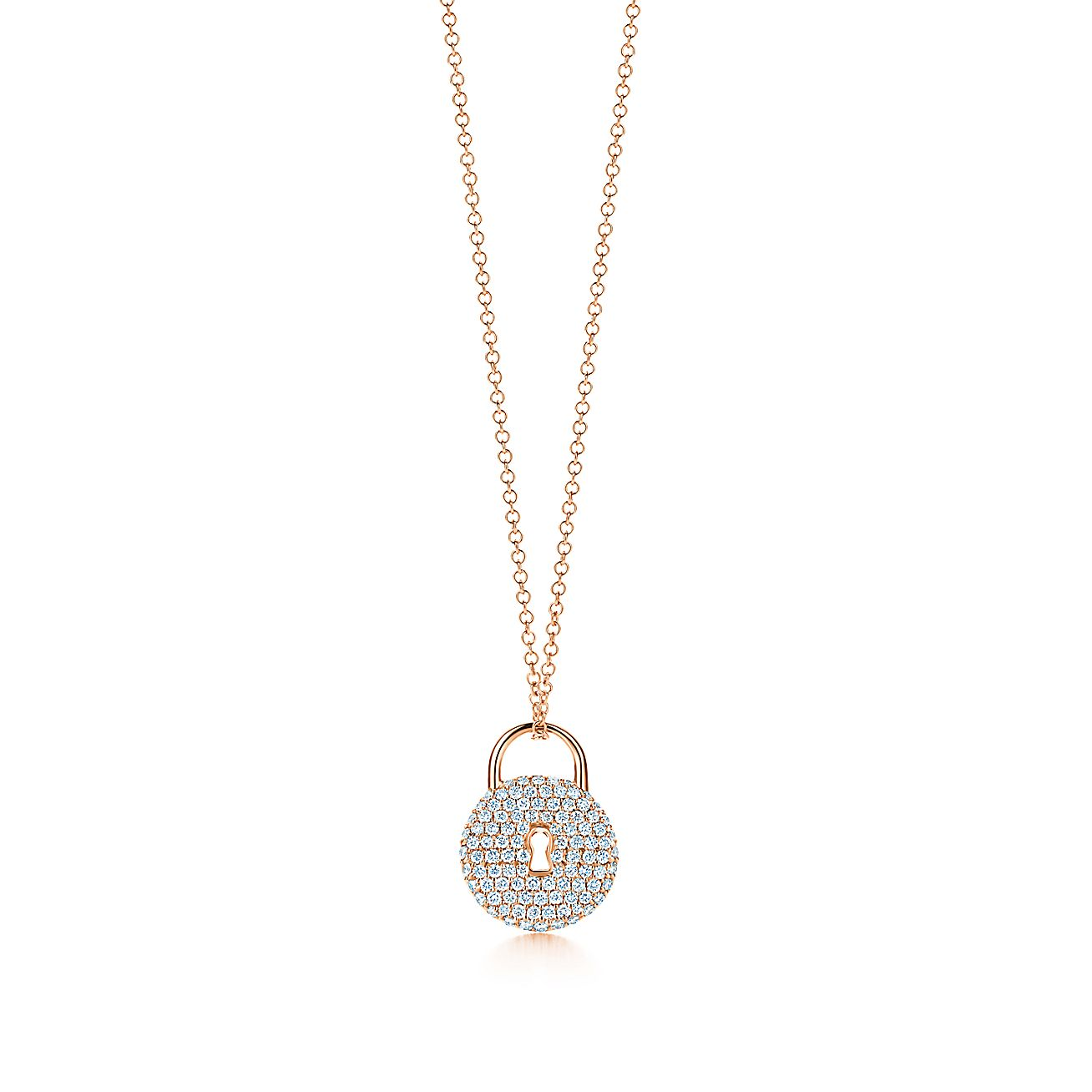 Tiffany Locks:Round Lock Pendant