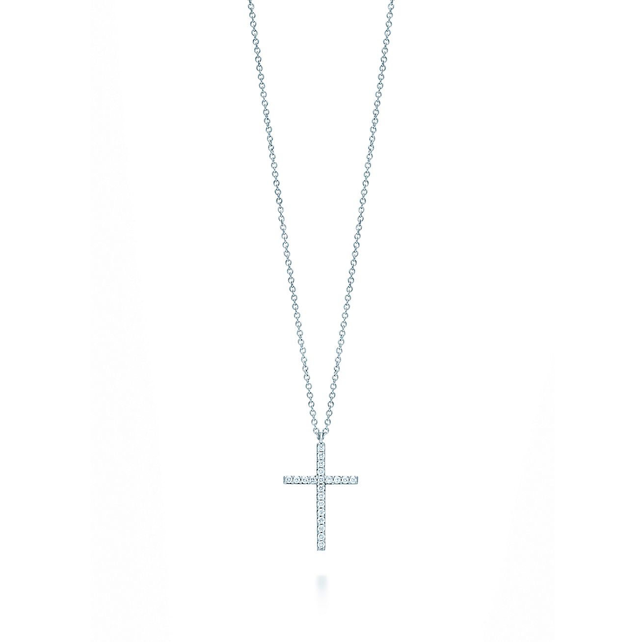 Tiffany metro cross pendant in 18k white gold with diamonds medium tiffany metro cross pendant in 18k white gold with diamonds medium tiffany co aloadofball Image collections