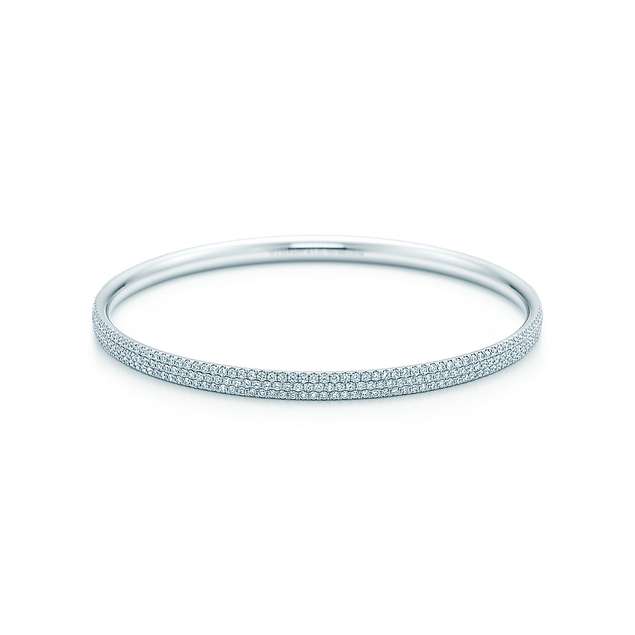 Tiffany Metro:Three-row Bangle
