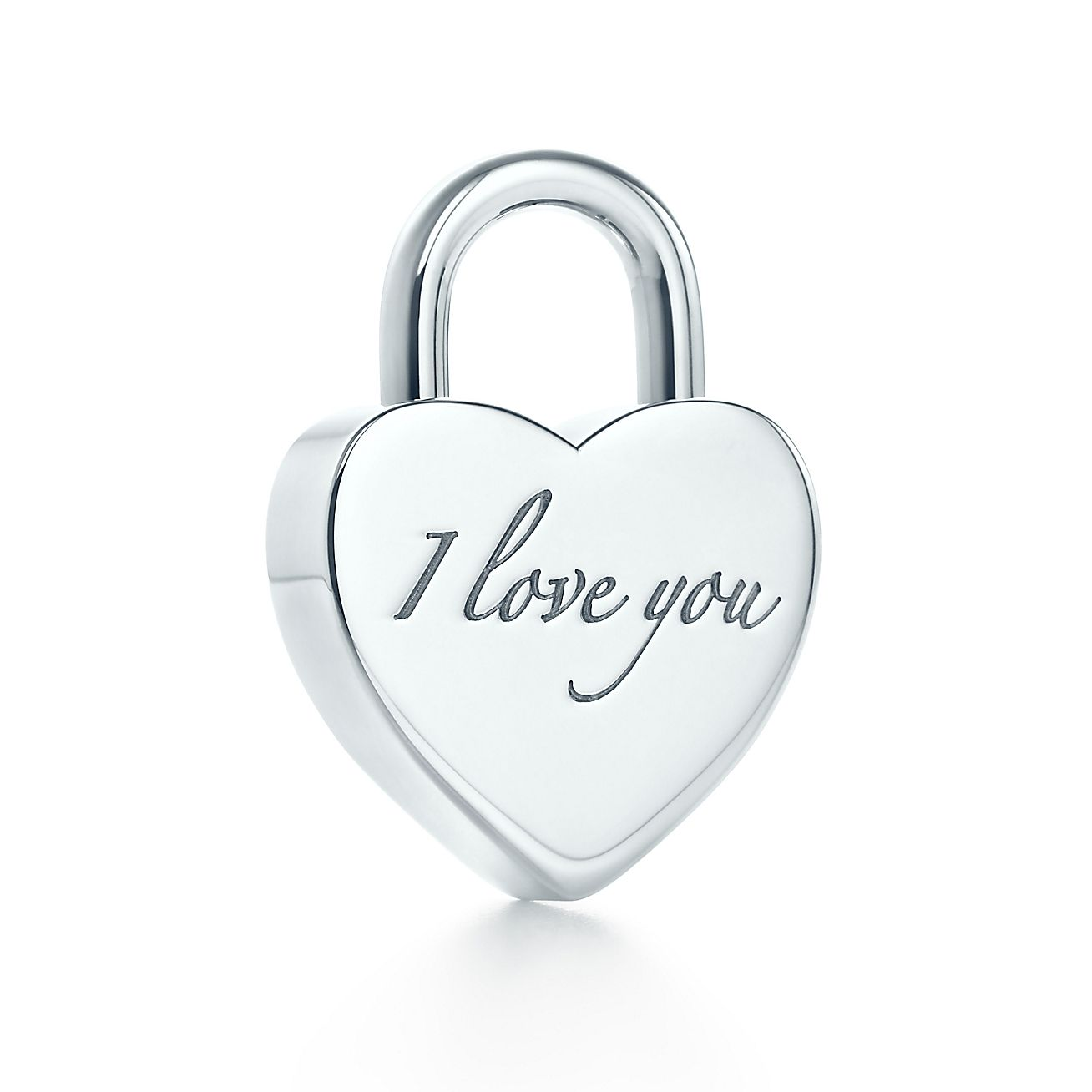 Tiffany Notes<br>I Love You lock charm
