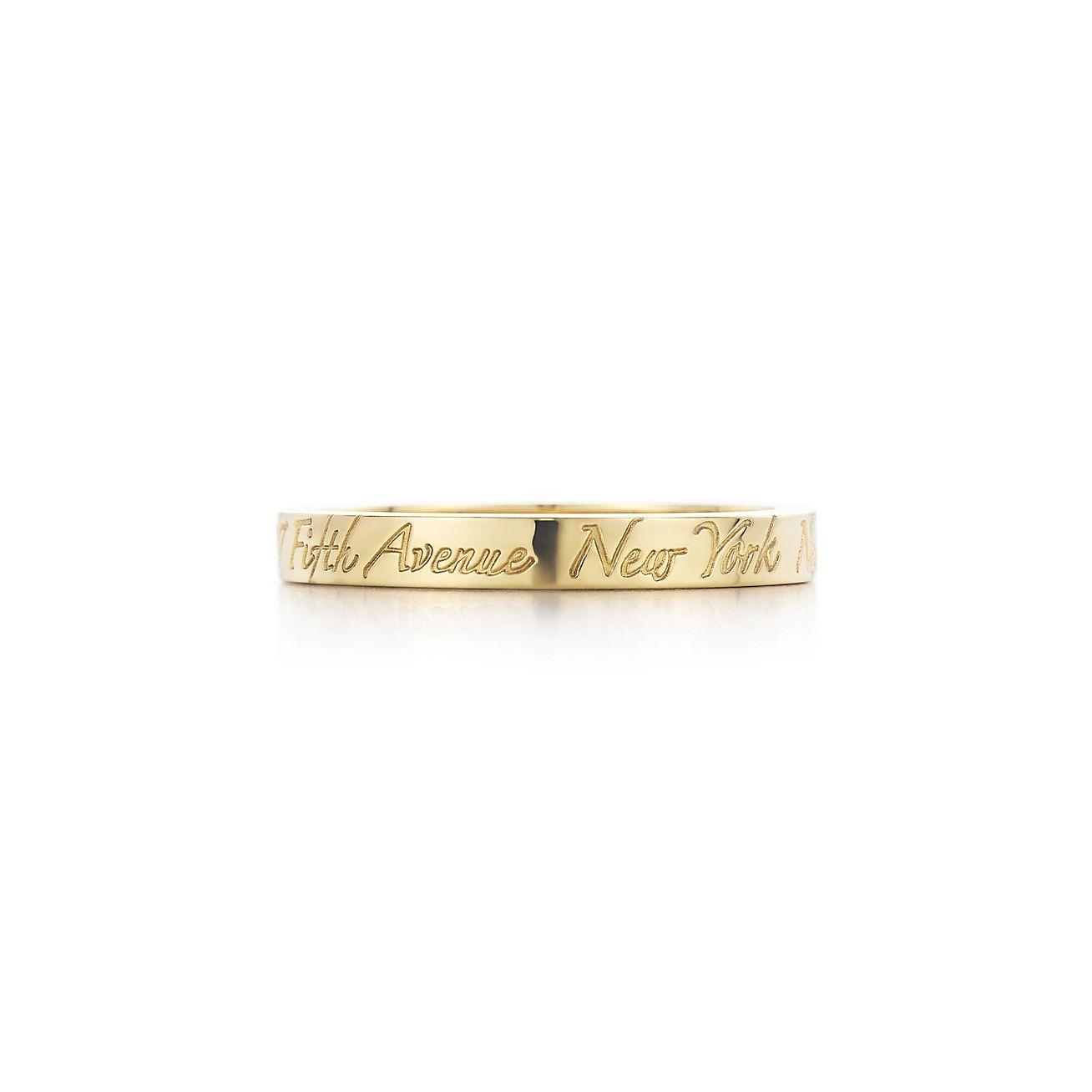 Tiffany Notes band ring in 18k gold, narrow. | Tiffany & Co.