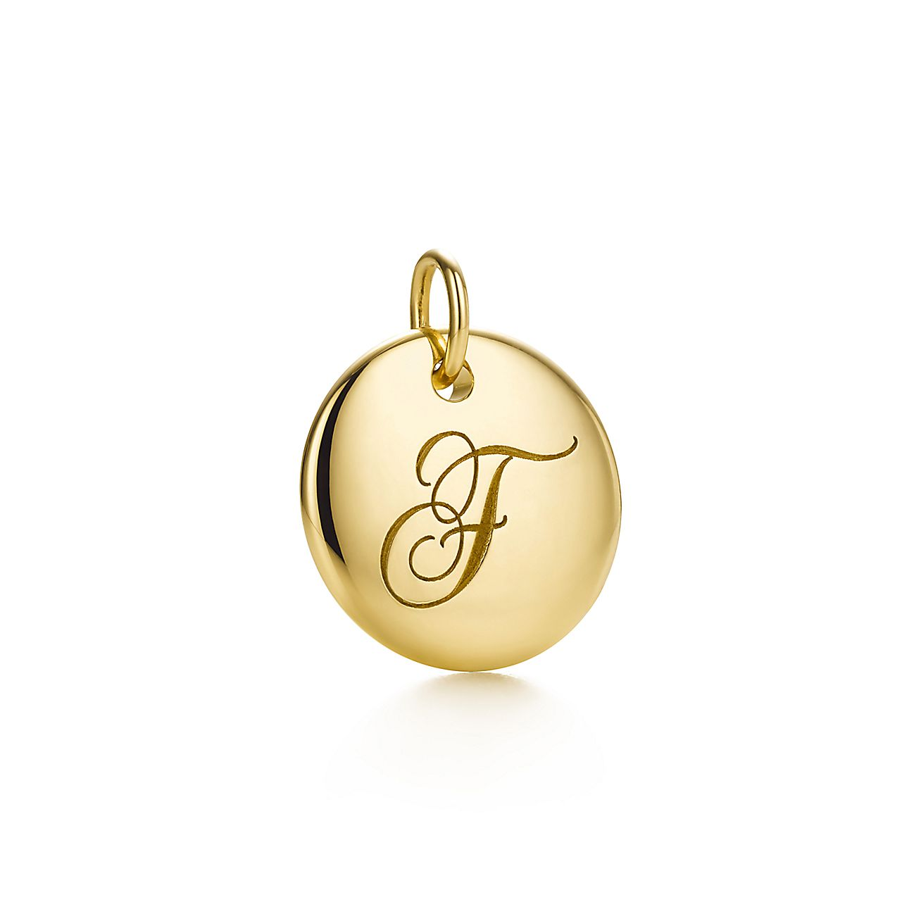 "Tiffany Notes®:Letter ""F"" Disc Charm"