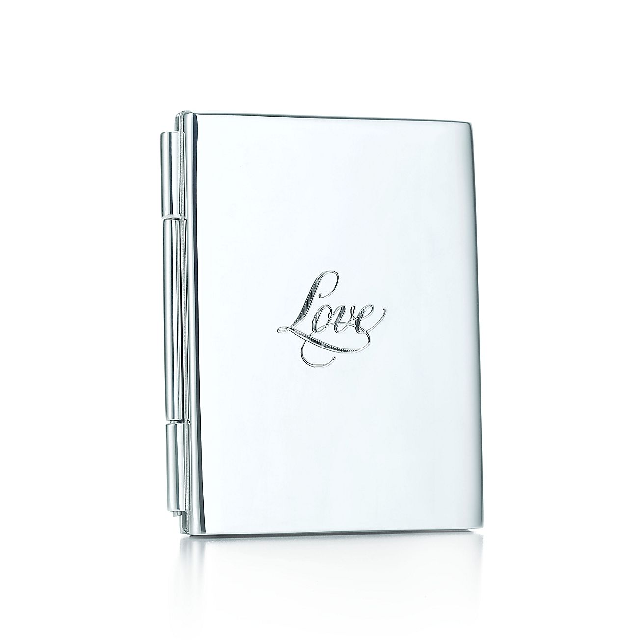 tiffany notes love double folding frame in sterling silver tiffany co
