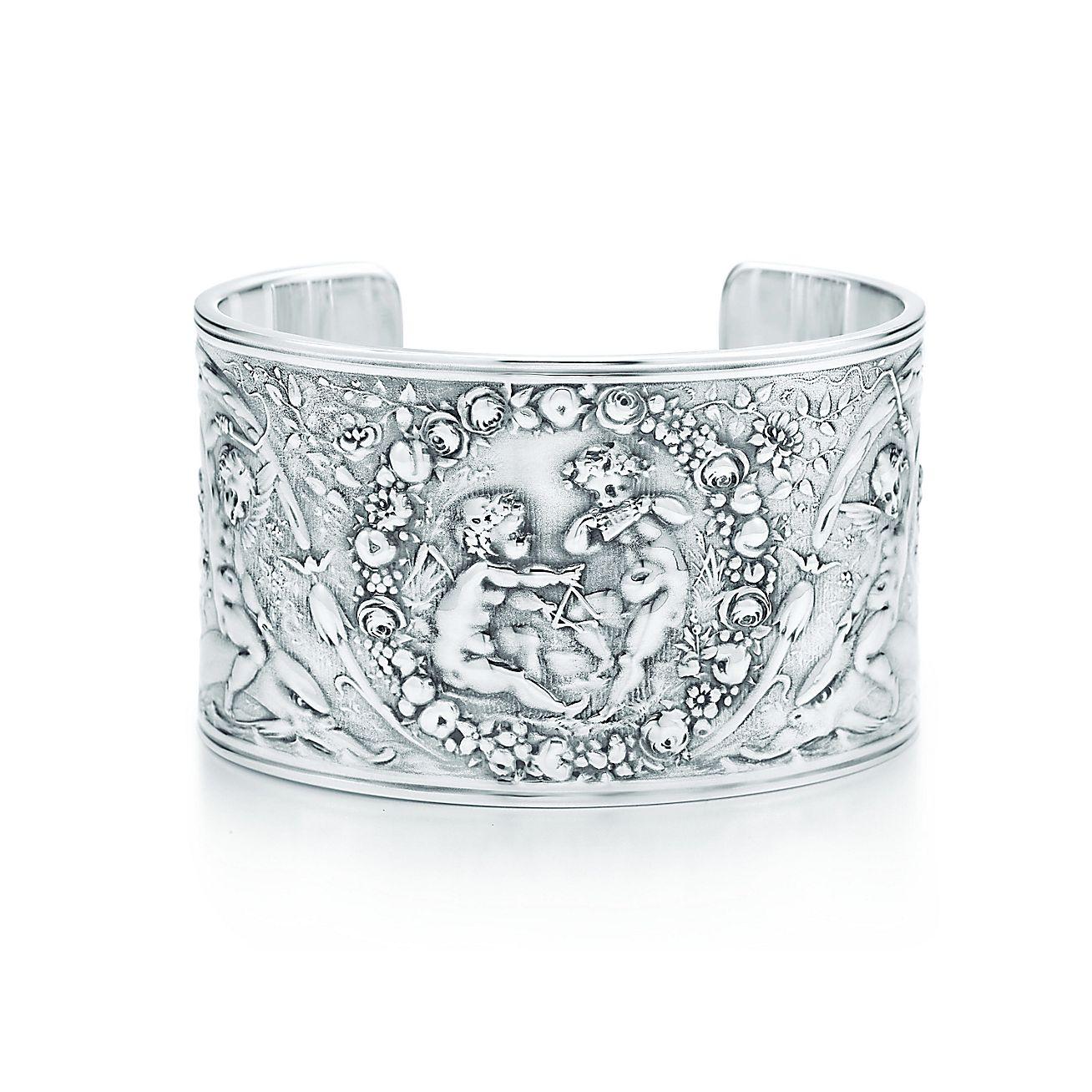 Tiffany Silver Studio<br>Rococo cherubs cuff