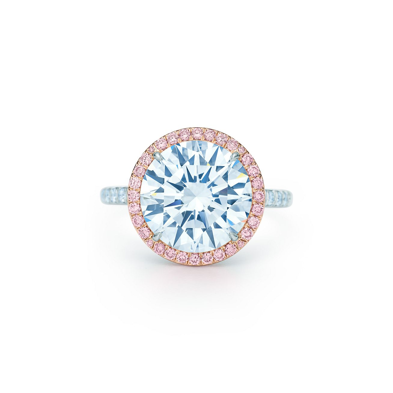 tiffany soleste diamond ring in platinum with white and