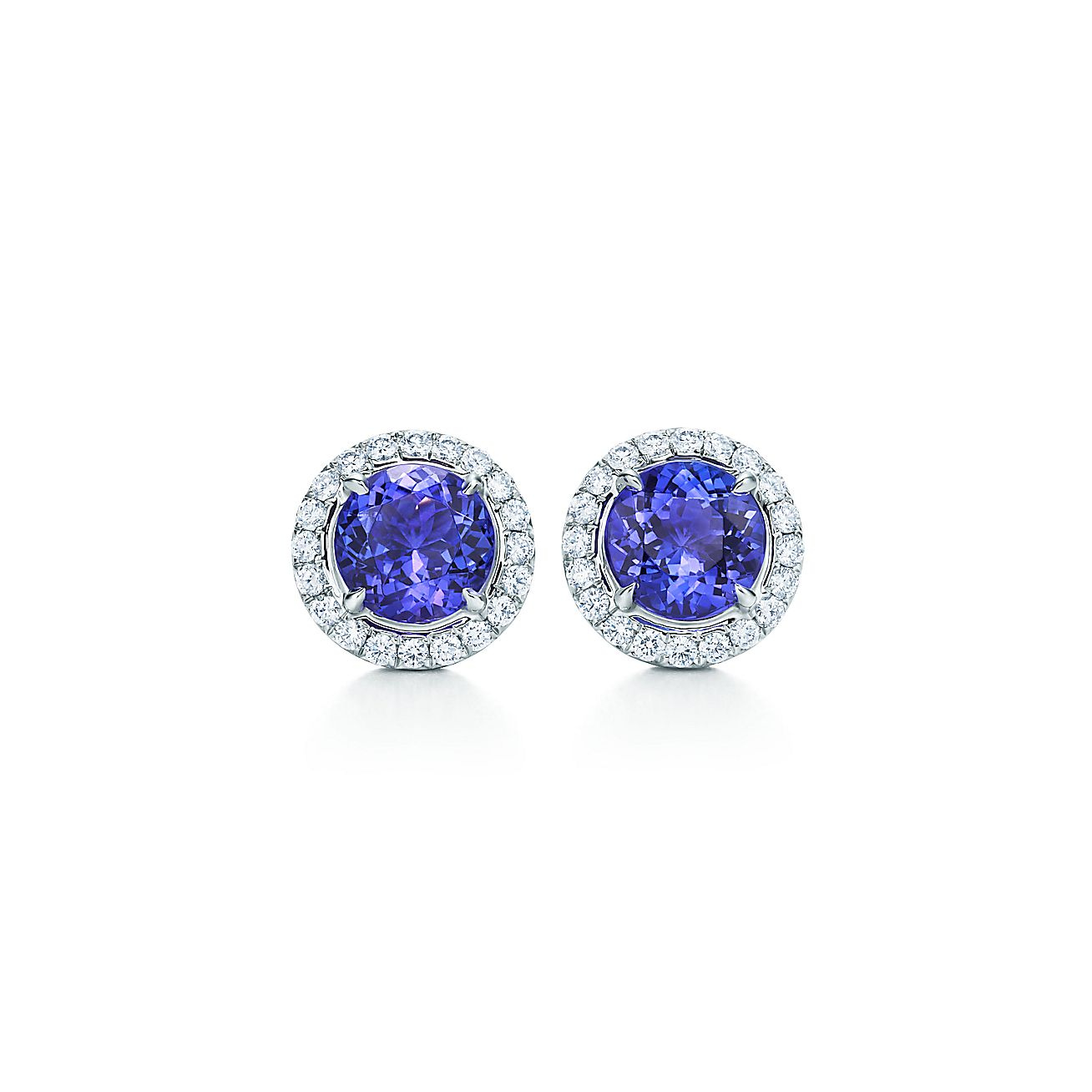 Tiffany Soleste Earrings In Platinum With Tanzanites And