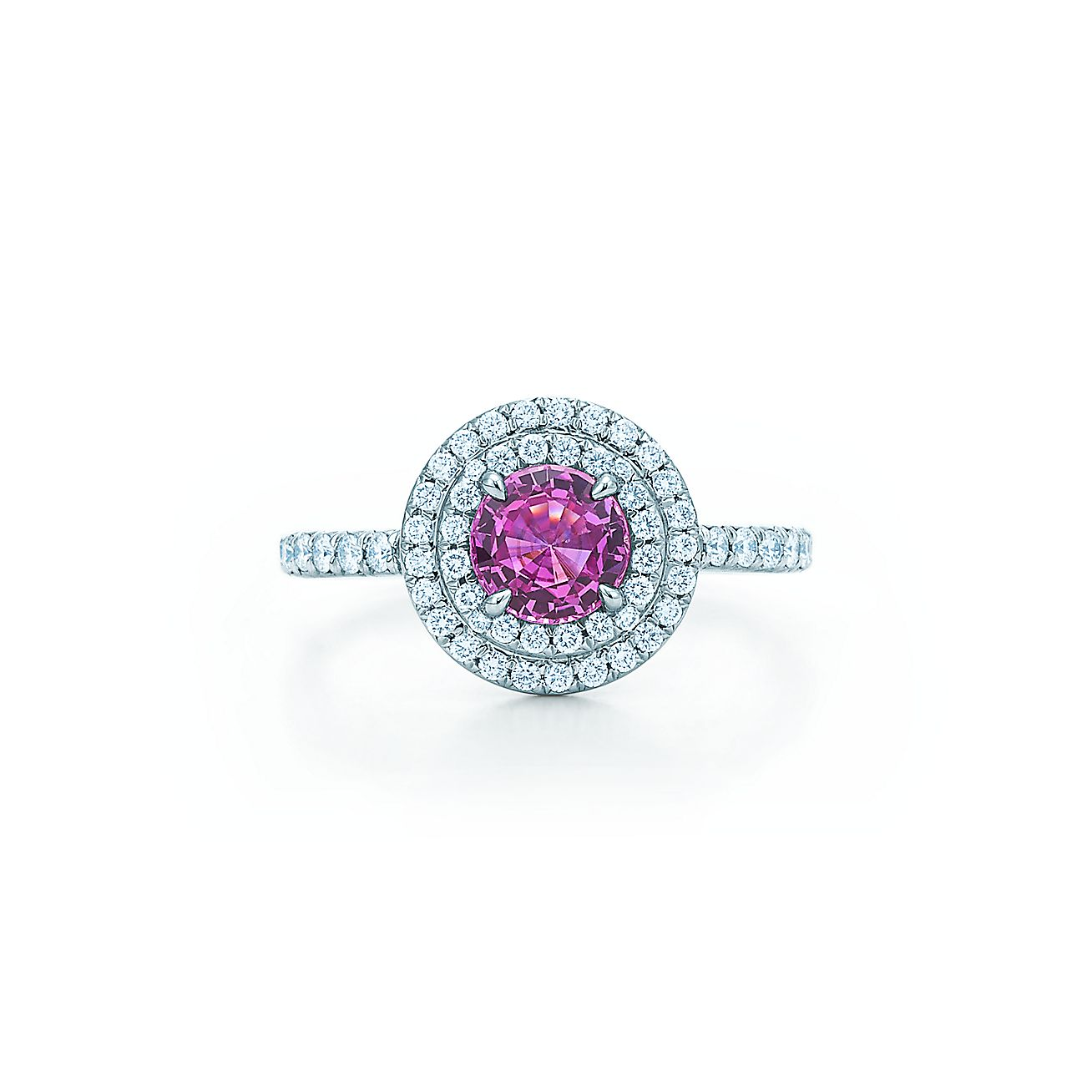 Tiffany Soleste® Ring In Platinum With A 45carat Pink Sapphire And  Diamonds  Tiffany & Co