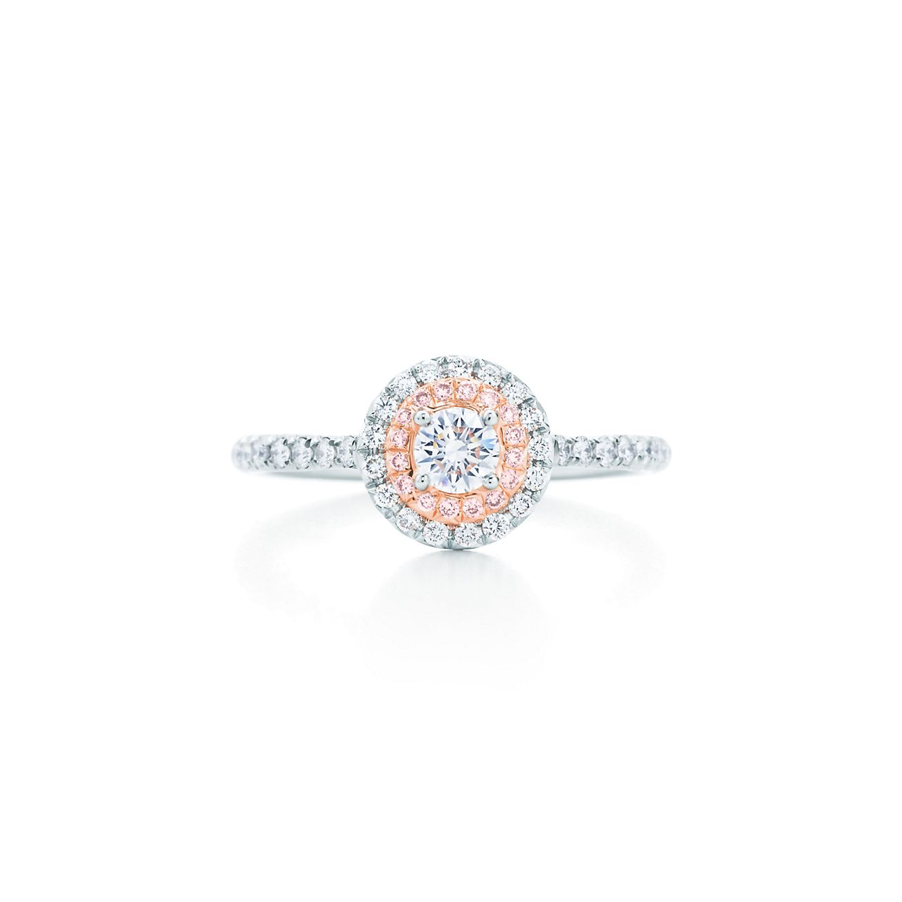 Tiffany Soleste® Ring In Platinum And 18k Rose Gold With