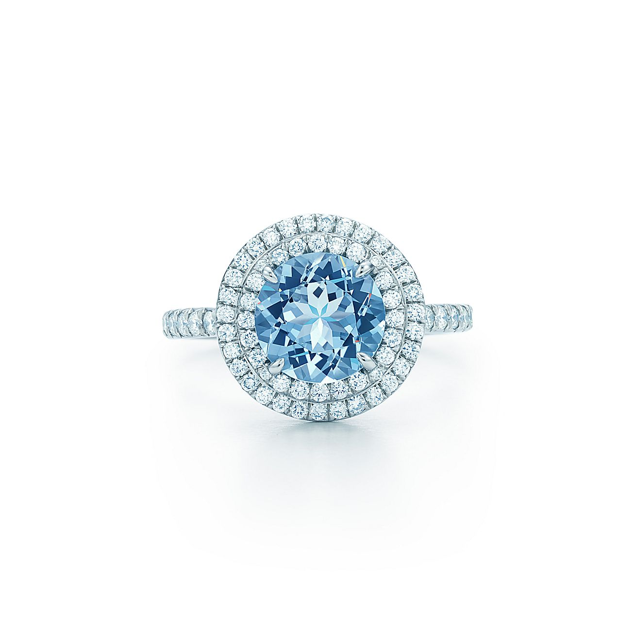 Tiffany Soleste® Ring In Platinum With A 70carat Aquamarine And Diamonds   Tiffany & Co