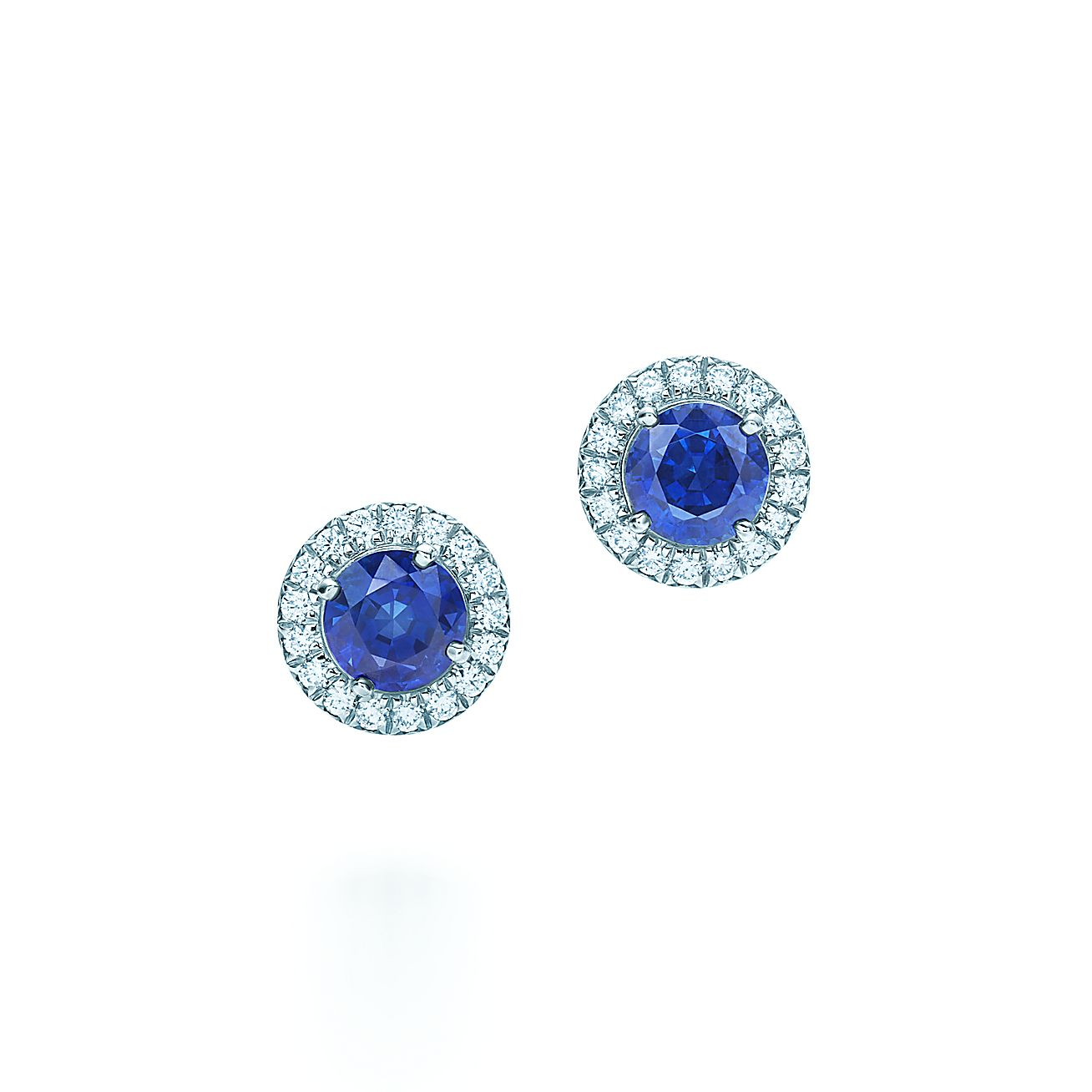 Tiffany Soleste® Earrings In Platinum With Sapphires And Diamonds   Tiffany & Co
