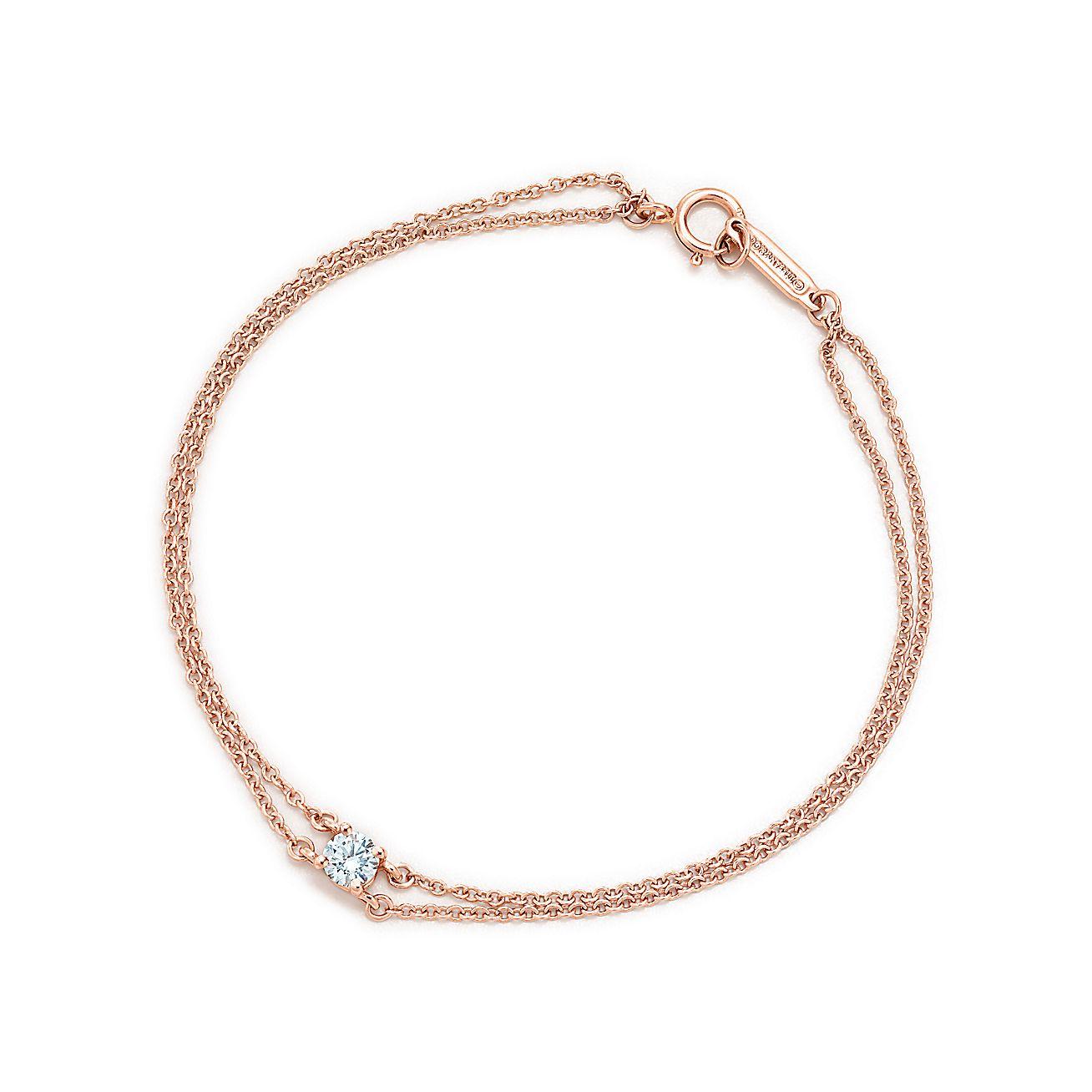 tiffany solitaire diamond bracelet in 18k rose gold. Black Bedroom Furniture Sets. Home Design Ideas