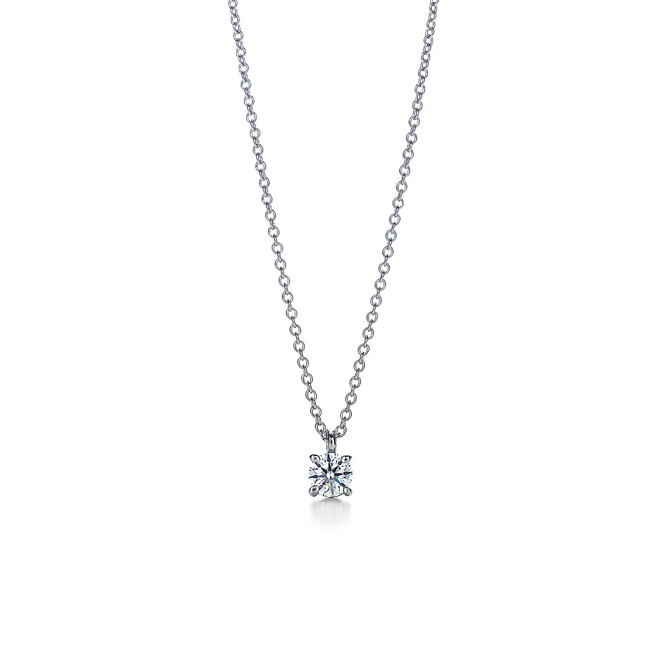 Tiffany Solitaire<br>Diamond Pendant