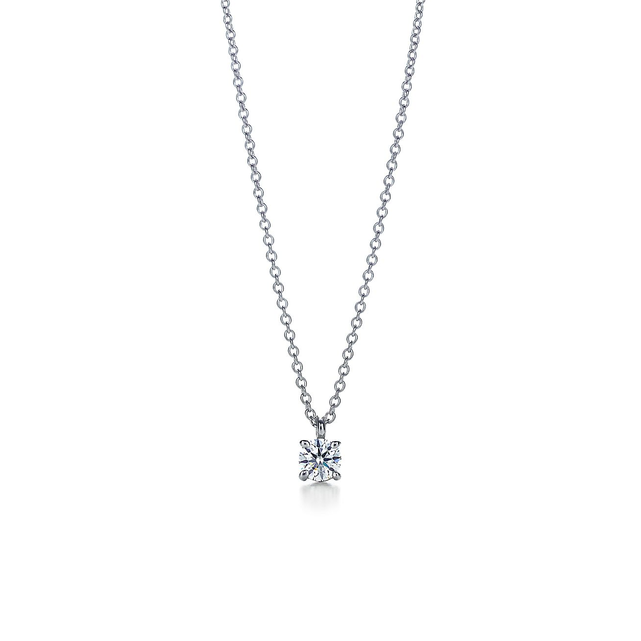 Tiffany solitaire diamond pendant in platinum tiffany co audiocablefo light Images
