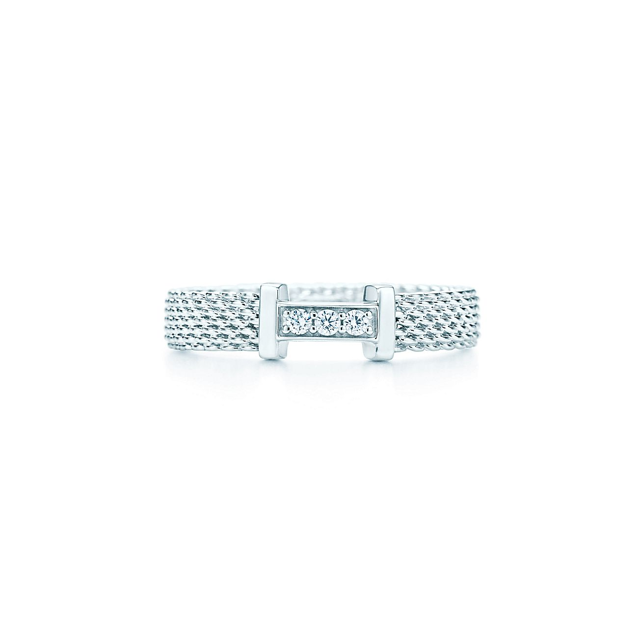 Tiffany And Co Somerset Ring With Diamonds