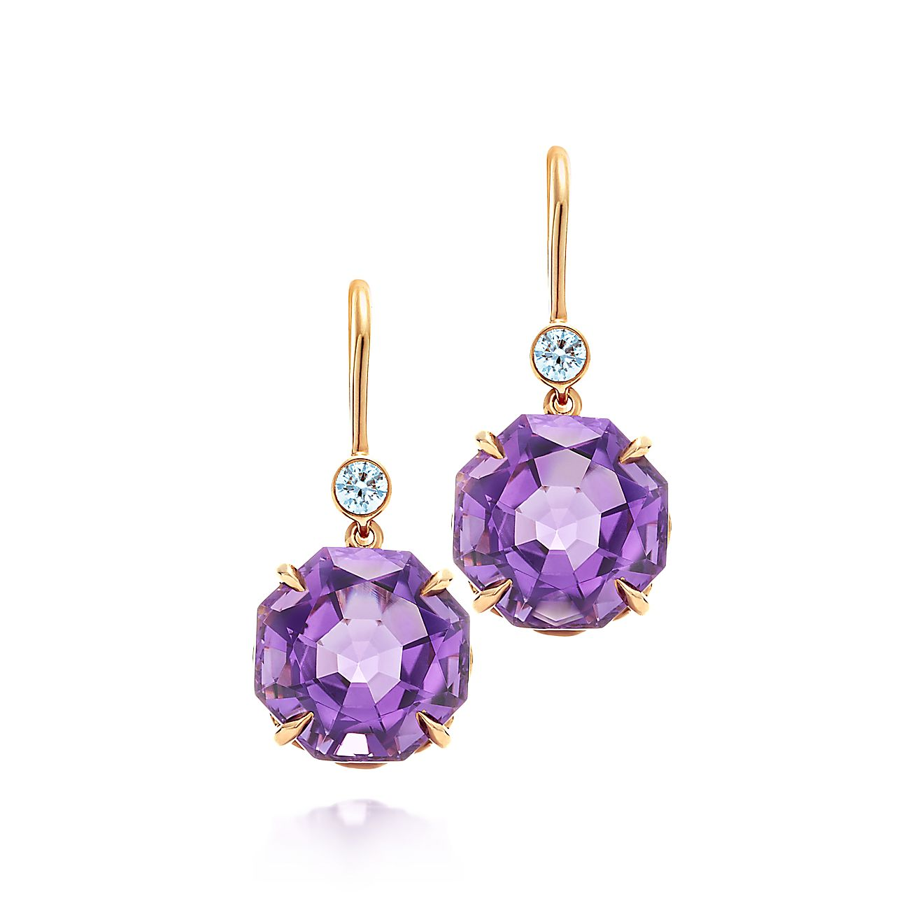 Tiffany Sparklers:Amethyst Drop Earrings