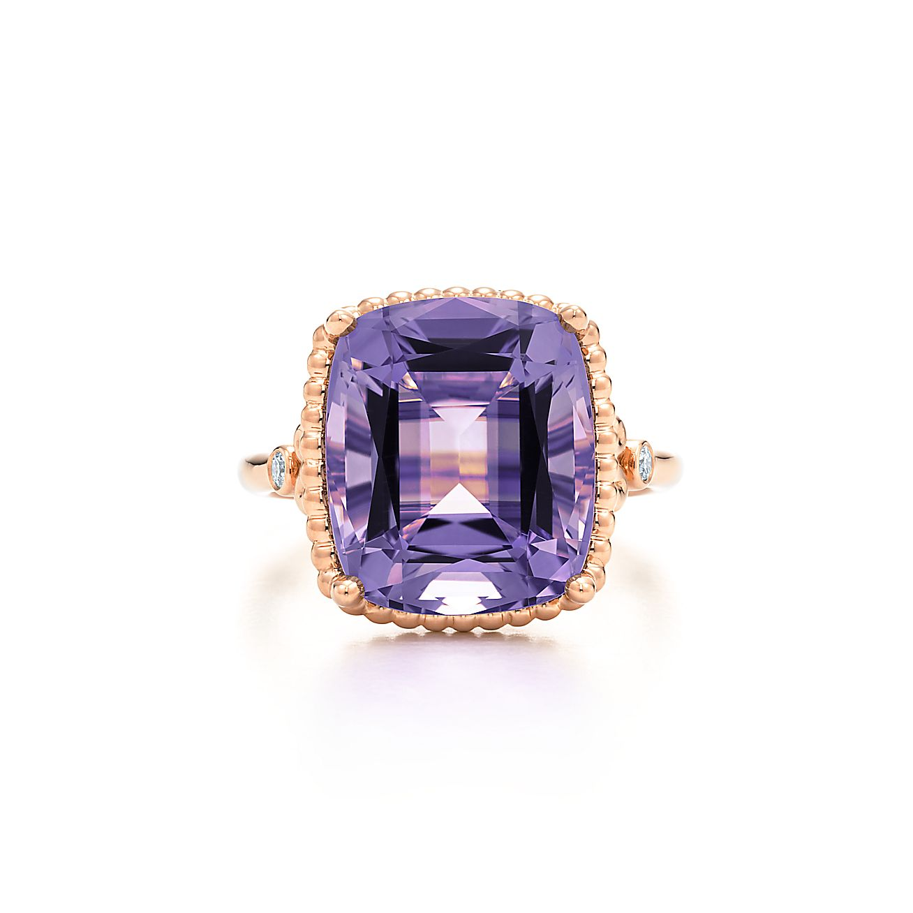Tiffany Sparklers Lavender Amethyst Ring In 18k Rose Gold With Diamonds   Tiffany & Co
