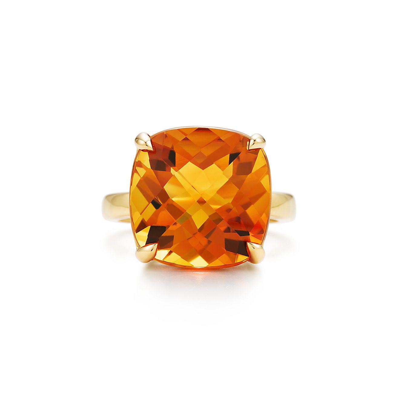 Tiffany Sparklers:Citrine Cocktail Ring
