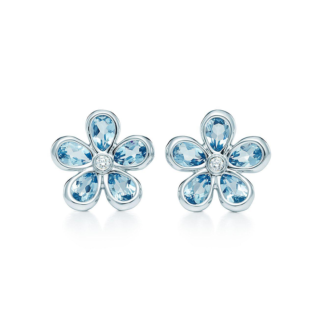 Tiffany Sparklers:Flower Earrings