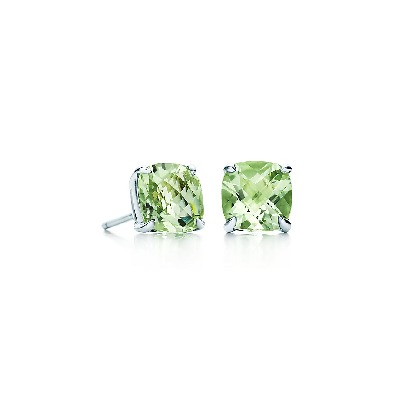 Tiffany Sparklers:Green Quartz Earrings