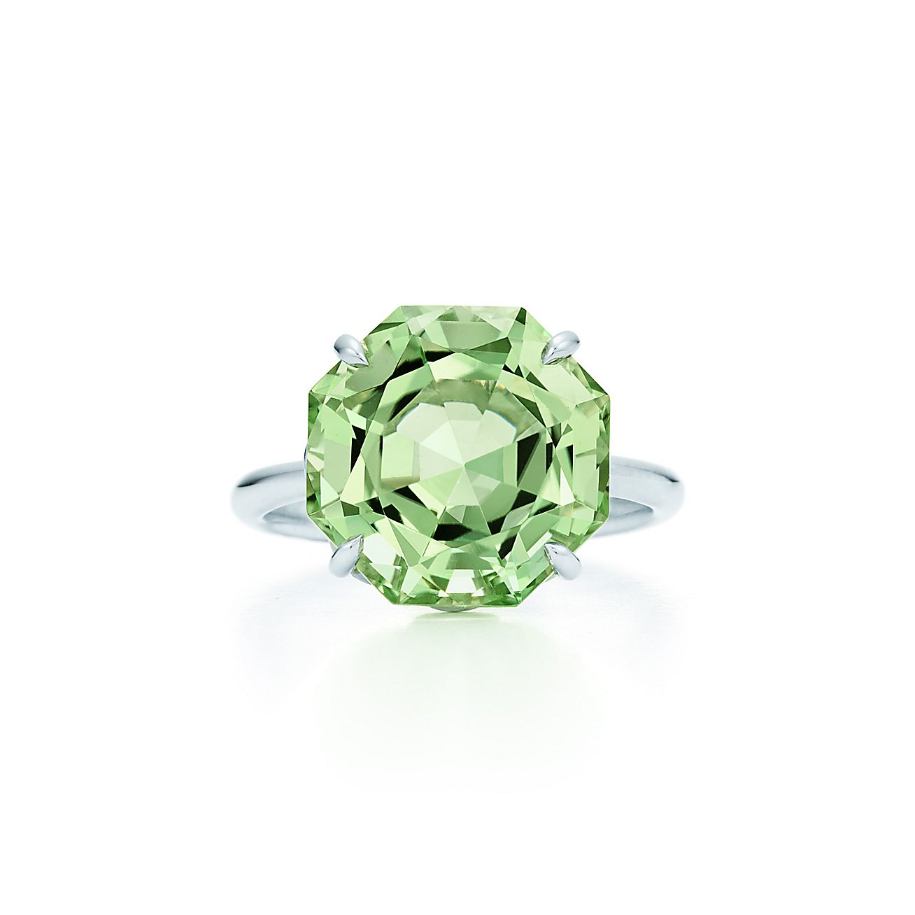 Tiffany Sparklers Ring In Sterling Silver With A Green Quartz  Tiffany &  Co
