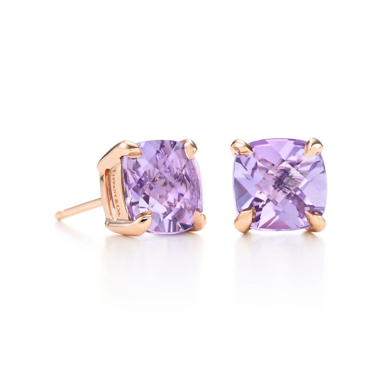 08feecf1b ... tiffany sparklers lavender amethyst earrings in 18k rose gold. tiffany  co. ...