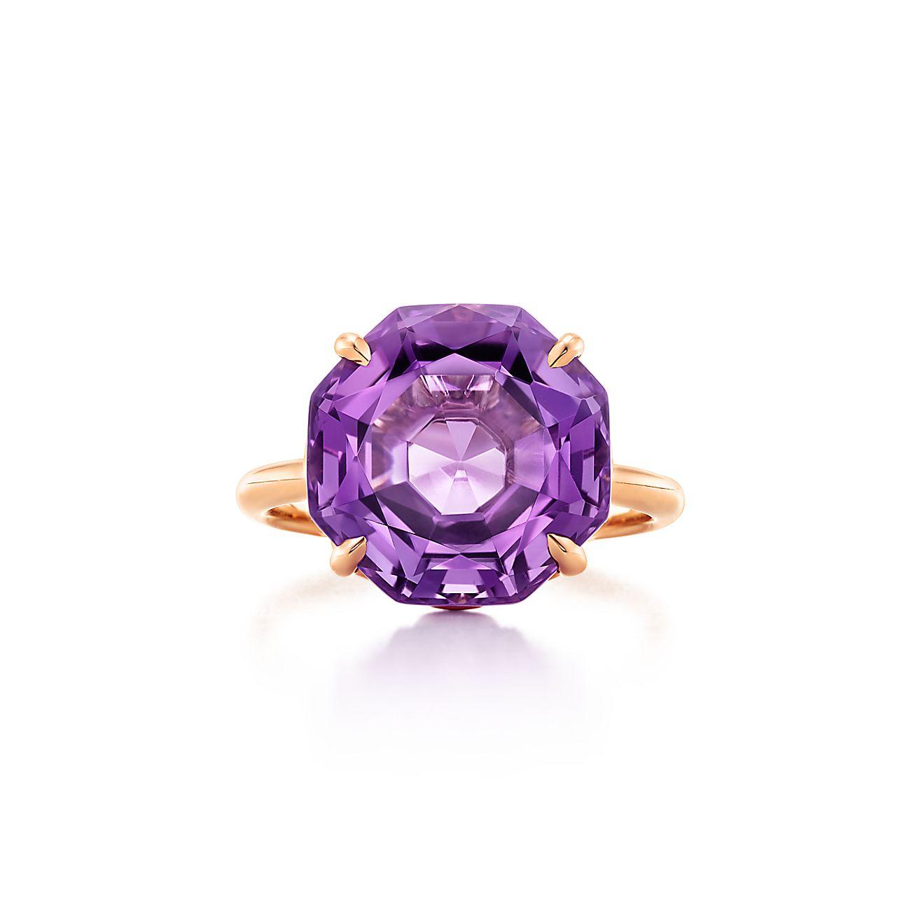 Tiffany Sparklers:Octagonal Amethyst Ring