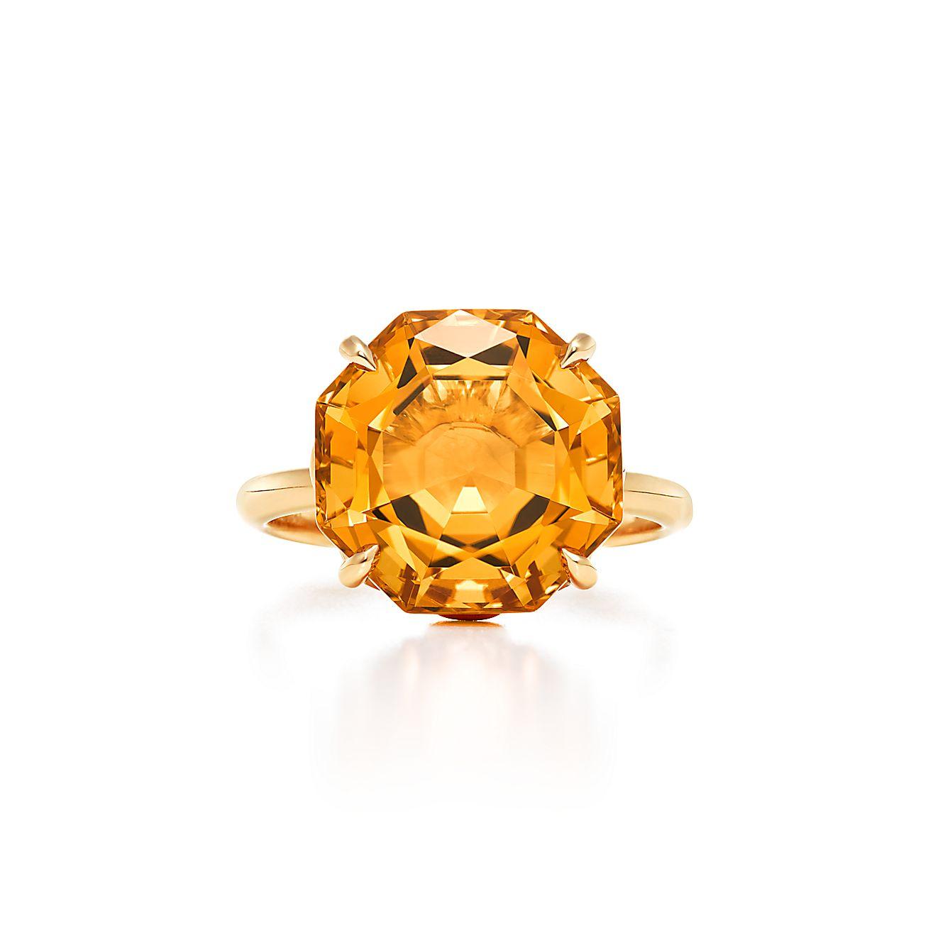 Tiffany Sparklers:Octagonal Citrine Ring
