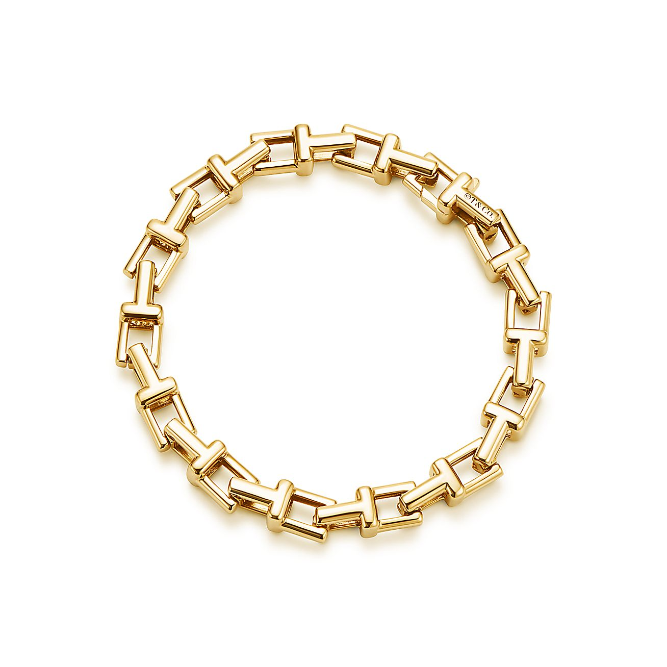 Tiffany T Chain Bracelet In 18k Gold Medium Tiffany Amp Co