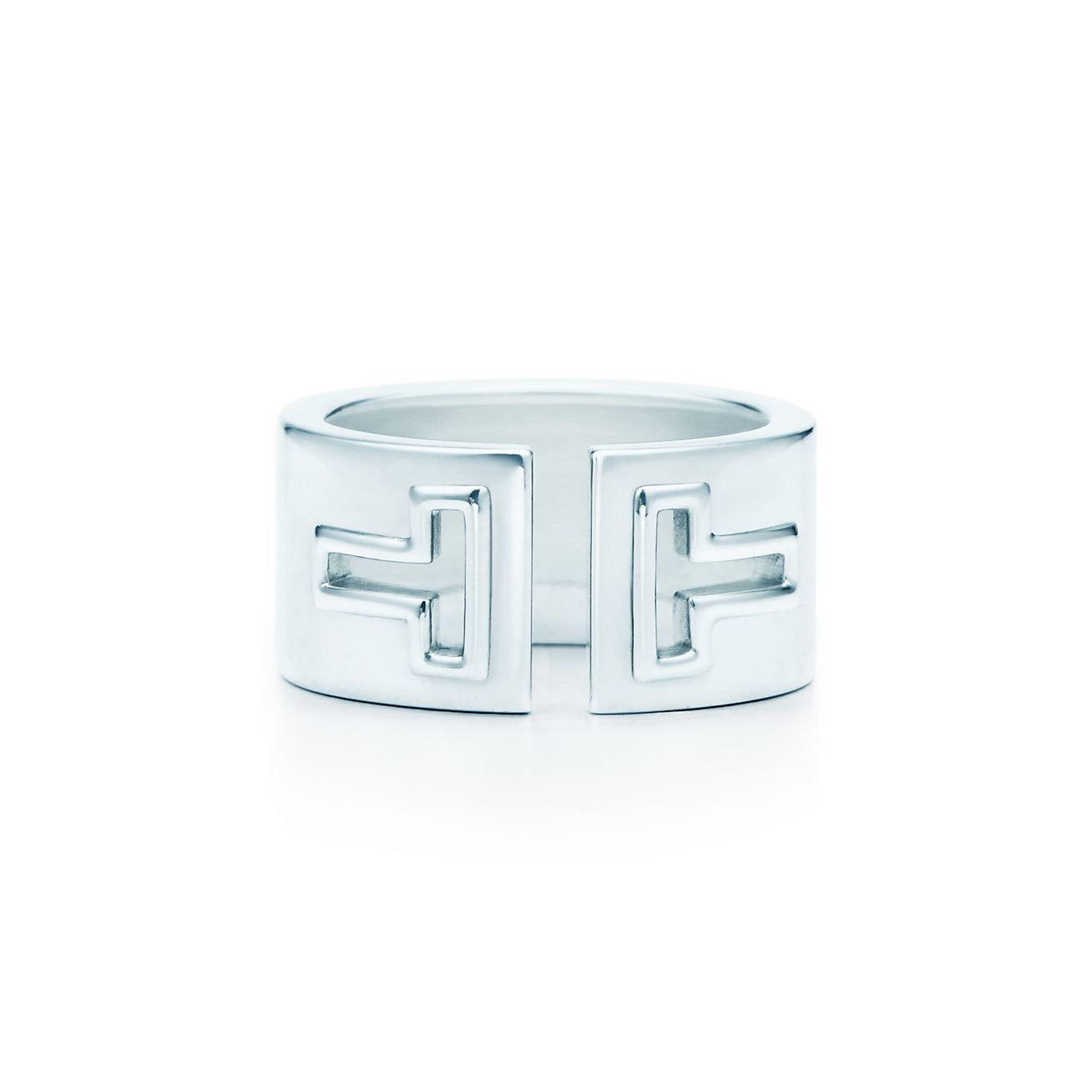 Tiffany T cutout ring in sterling silver. | Tiffany & Co.