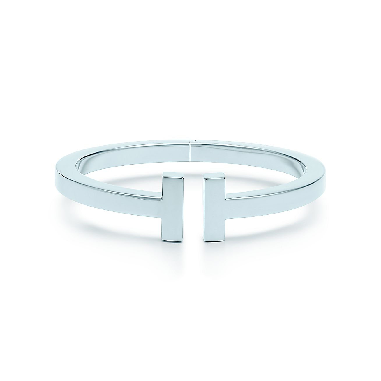 Tiffany T square bracelet in sterling silver, large. | Tiffany & Co.