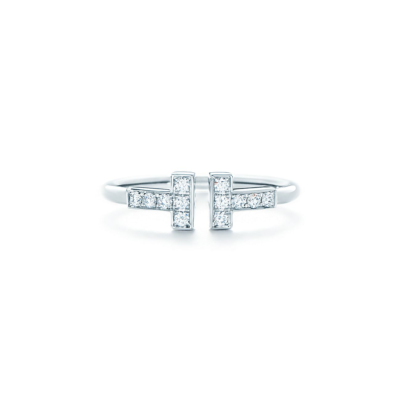 Tiffany T Wire Ring White Gold